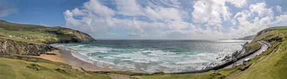 Panorama of the beach Slea Head Stock Image