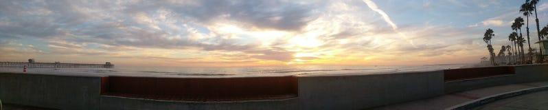 Panorama of beach stock photos