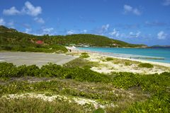 Panorama of Beach in St Barths, Caribbean Royalty Free Stock Photo