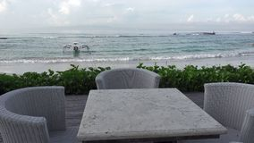 Panorama of the beach of the tropical resort, Bali, Indonesia. Panorama of the beach of the tropical resort, Bali, Indonesia stock video footage