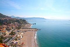 Panorama of the beach of Vietri sul Mare Stock Photo