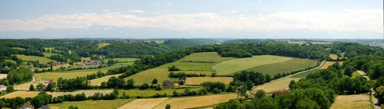 Panorama of Bearn and midi pyrenees Stock Image