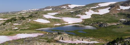 Panorama of the Beartooth Mountains royalty free stock photography