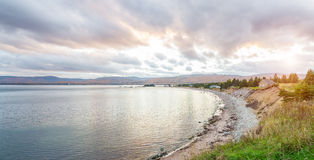 Panorama of beautiful autumn view Royalty Free Stock Photo