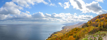 Panorama of beautiful autumn view Stock Photography