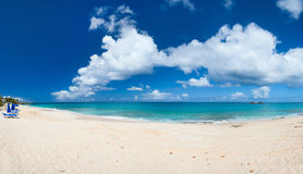 Panorama of a beautiful Caribbean beach Stock Image