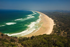 Panorama Beautiful Byron Bay Beach NSW, AU Royalty Free Stock Photo