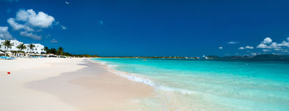 Panorama of a beautiful Caribbean beach Stock Photo