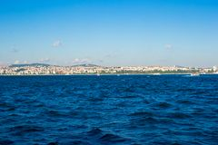 Panorama of the beautiful city Istanbul on Royalty Free Stock Photography