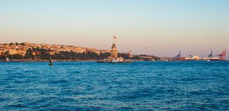 Panorama of the beautiful city Istanbul in sunset Royalty Free Stock Images