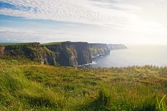 Panorama of beautiful Cliffs of Moher Royalty Free Stock Image