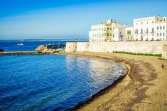 Panorama of beautiful Gallipoli, Italy Royalty Free Stock Photos