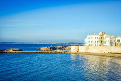 Panorama of beautiful Gallipoli, Italy Royalty Free Stock Photography