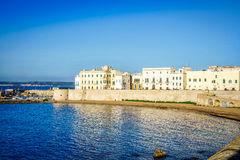 Panorama of beautiful Gallipoli, Italy Royalty Free Stock Images
