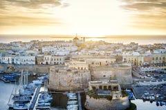 Panorama of beautiful Gallipoli, Puglia, Italy Stock Image