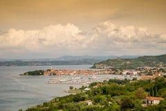 Panorama of beautiful Izola, Slovenia Stock Photo