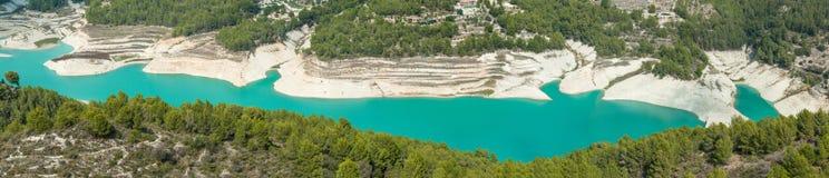 Panorama beautiful lake near Guadalest Royalty Free Stock Photography