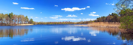 Panorama of beautiful lake Royalty Free Stock Photography