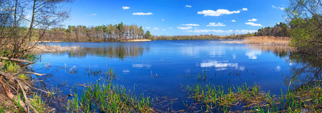 Panorama of beautiful lake Stock Images