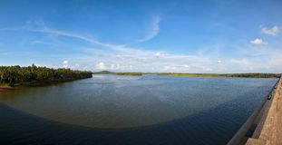 Panorama of Beautiful lake view Royalty Free Stock Photography
