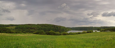 Panorama of the beautiful landscape Royalty Free Stock Photos