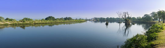 Panorama of a beautiful landscape in Mudumalai National Park, In Stock Image