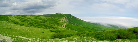 Panorama of Beautiful Mountain Landscape Royalty Free Stock Photography