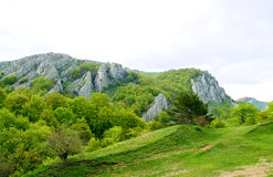 Panorama of Beautiful Mountain Landscape Royalty Free Stock Images
