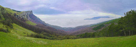 Panorama of Beautiful Mountain Landscape Stock Image