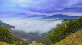Panorama of Beautiful Mountain Landscape Royalty Free Stock Photo