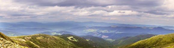 Panorama beautiful mountain landscape Stock Photos