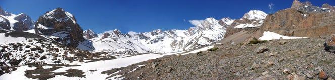 Panorama beautiful mountain nature. In Tajikistan Stock Image