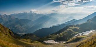 Panorama of beautiful mountains Royalty Free Stock Photo