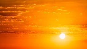 Panorama of Beautiful Natural Sunset Sunrise. Background Royalty Free Stock Photography
