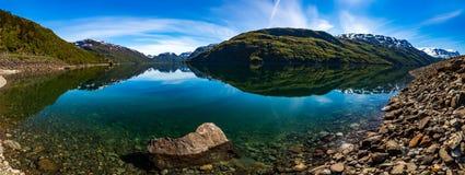 Panorama Beautiful Nature Norway. Royalty Free Stock Images