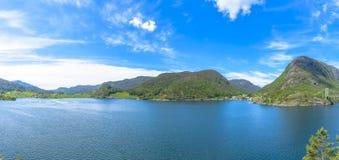 Panorama of beautiful Norway scenery Royalty Free Stock Photography