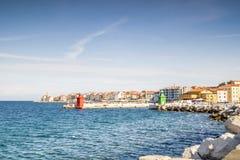 Panorama of beautiful Piran, Slovenia Royalty Free Stock Photography