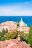 Panorama of beautiful Piran, Slovenia Royalty Free Stock Image