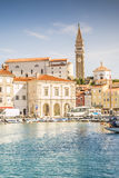 Panorama of beautiful Piran, Slovenia Royalty Free Stock Photo