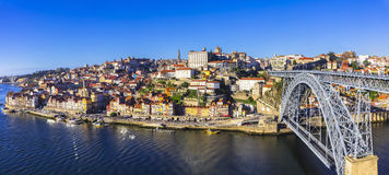 Panorama of beautiful Porto Royalty Free Stock Photos