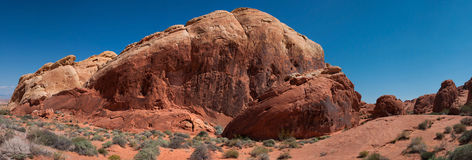 Panorama of beautiful rocks in Fire Valley Stock Images