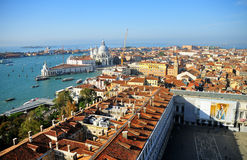 Panorama of beautiful roofs Venice Royalty Free Stock Photography