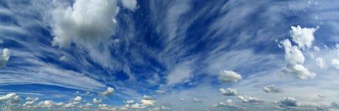 Panorama of beautiful sky with clouds Stock Photos