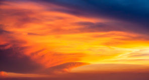 Panorama of beautiful sunset cloud in the sky Royalty Free Stock Photos