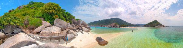 Panorama of beautiful tropical islands Stock Image