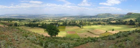 Panorama of the beautiful valley. Stock Images