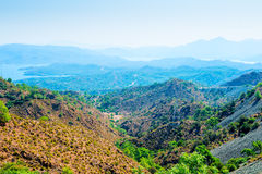 Panorama of the beautiful valley Royalty Free Stock Images