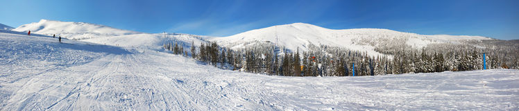 Panorama of beautiful winter landscape Royalty Free Stock Images