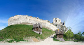 Panorama of Beckov castle Stock Photos