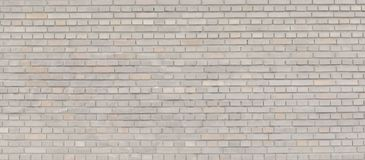 Panorama beige de la pared de ladrillo Foto de archivo
